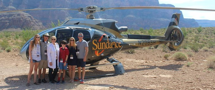 Family ready to board the Grand Canyon All American Helicopter Tour