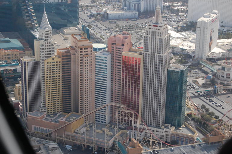 View of Las Vegas from the Helicopter