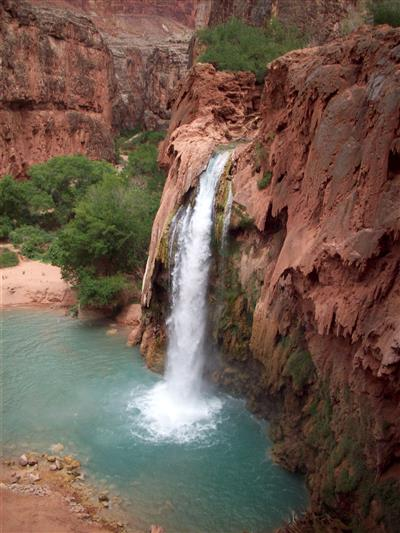 Havasu Falls at the Grand Canyon.