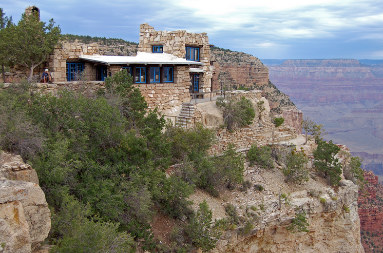 Lookout Studio overlooking the South Rim of the Grand Canyon