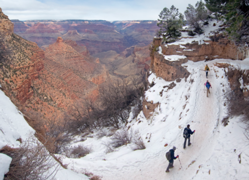 Hiking the National Grand Canyon In Winter