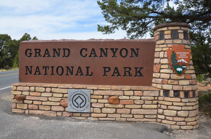 Entrance to the Grand Canyon on your Spring or Summer Trip