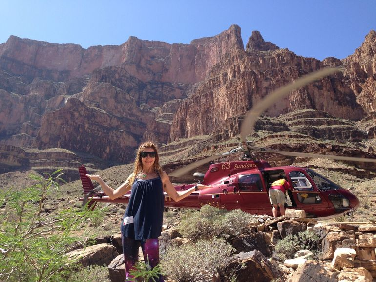 Landing in the Grand Canyon by Helicopter