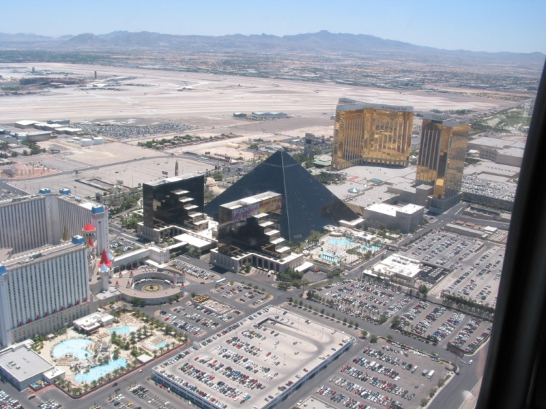 Helicopter view of Las Vegas