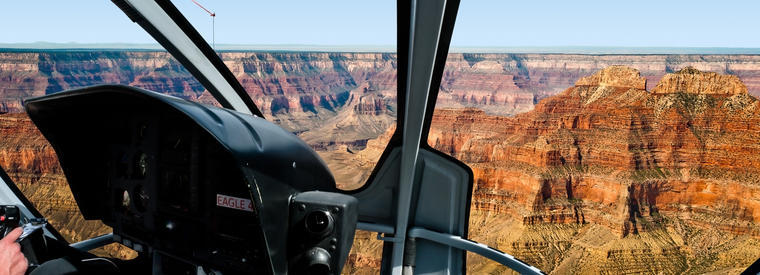 grand canyon from the helicopter