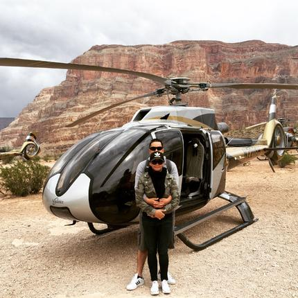helicopter tour of the grand canyon in winter
