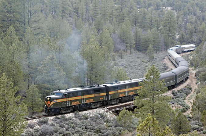 grand canyon railroad in december