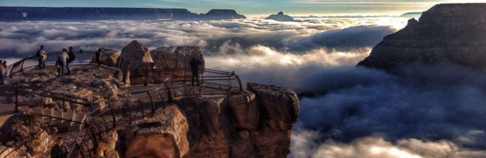 beautiful clouds in the grand canyon