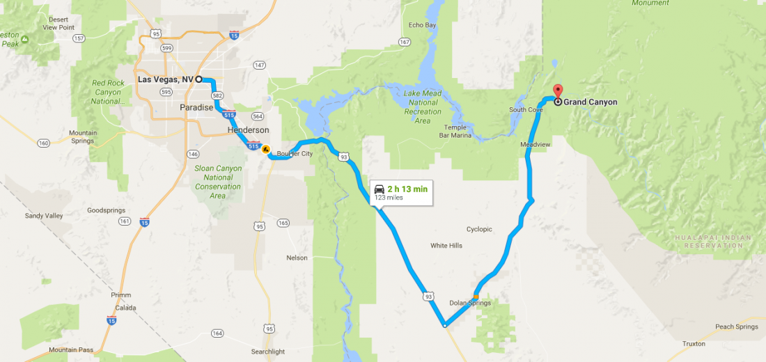Drive To Grand Canyon - Google Maps