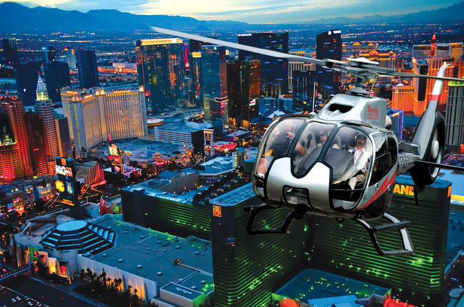 las vegas tour packages - strip by helicopter