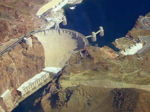 hoover dam from a grand canyon helicopter tour from las vegas