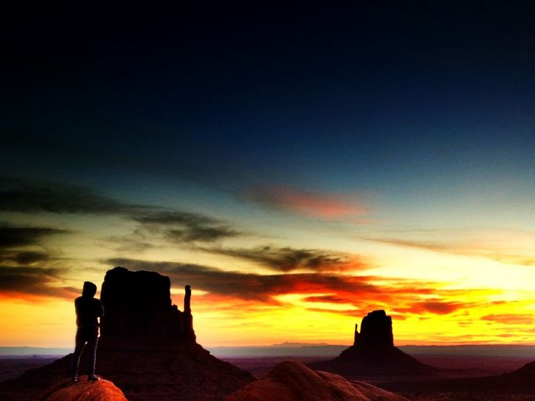 Viewing the sunrise at Monument Valley