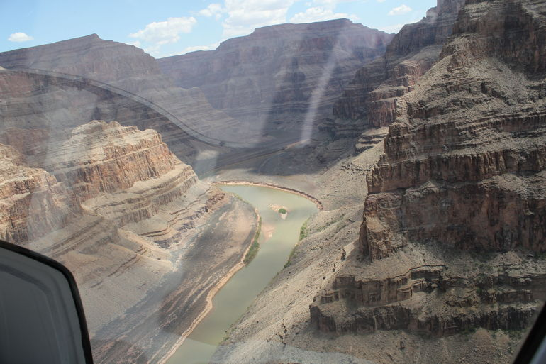 View of the Colorado River from a helicopter