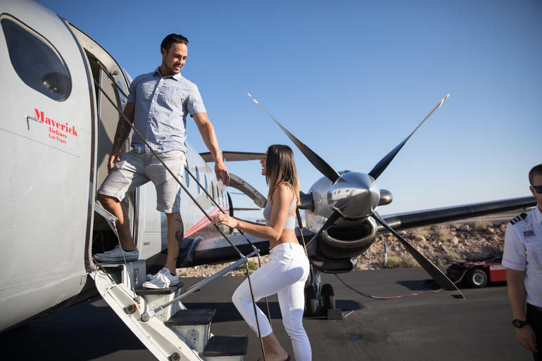 Entering the Airplane for the Grand Canyon Airplane Tour