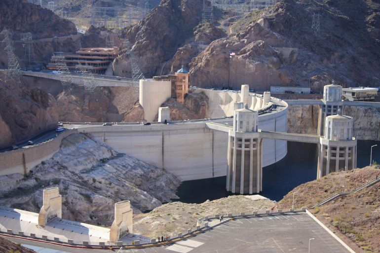 Passing by Hoover Dam