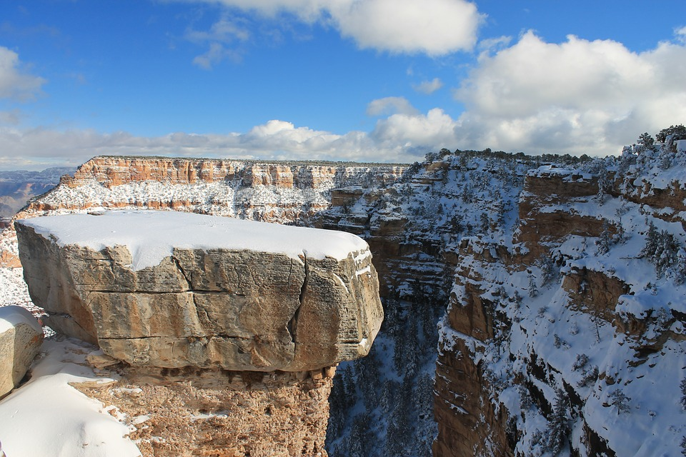 Christmas at the Grand Canyon, covered in snow